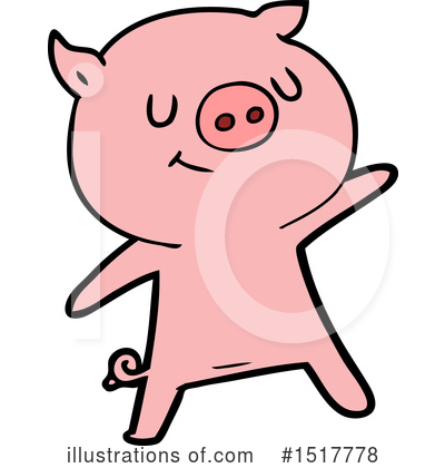 Royalty-Free (RF) Pig Clipart Illustration by lineartestpilot - Stock Sample #1517778