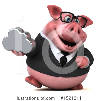 Royalty-Free (RF) Pig Clipart Illustration by Julos - Stock Sample #1521311