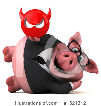 Royalty-Free (RF) Pig Clipart Illustration by Julos - Stock Sample #1521312