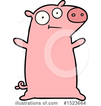 Royalty-Free (RF) Pig Clipart Illustration by lineartestpilot - Stock Sample #1523664