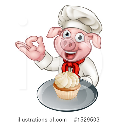 Chef Pig Clipart #1529503 by AtStockIllustration