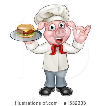 Chef Pig Clipart #1532333 by AtStockIllustration