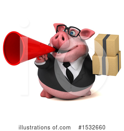 Royalty-Free (RF) Pig Clipart Illustration by Julos - Stock Sample #1532660