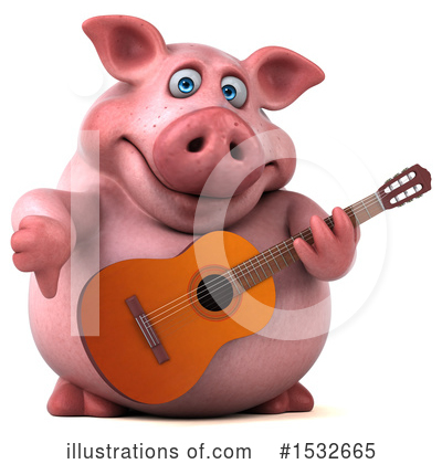 Royalty-Free (RF) Pig Clipart Illustration by Julos - Stock Sample #1532665