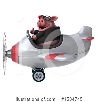 Royalty-Free (RF) Pig Clipart Illustration by Julos - Stock Sample #1534745