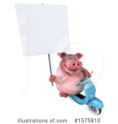 Royalty-Free (RF) Pig Clipart Illustration by Julos - Stock Sample #1575810
