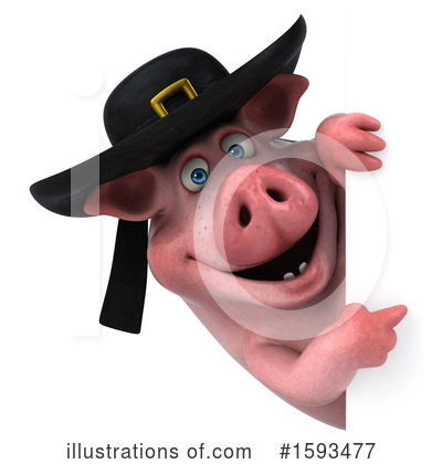 Royalty-Free (RF) Pig Clipart Illustration by Julos - Stock Sample #1593477