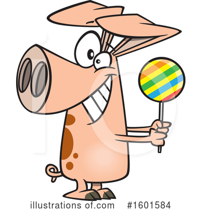 Royalty-Free (RF) Pig Clipart Illustration by toonaday - Stock Sample #1601584