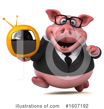 Royalty-Free (RF) Pig Clipart Illustration by Julos - Stock Sample #1607192