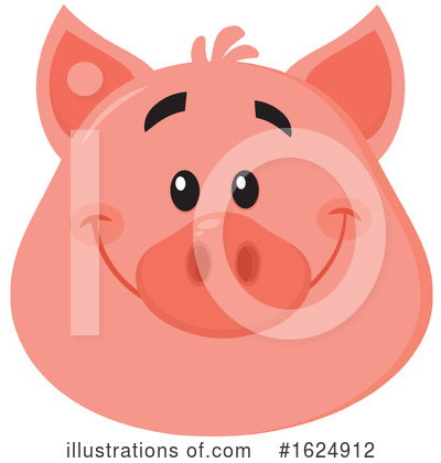 Royalty-Free (RF) Pig Clipart Illustration by Hit Toon - Stock Sample #1624912
