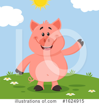 Pig Clipart #1624915 by Hit Toon