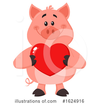 Pig Clipart #1624916 by Hit Toon