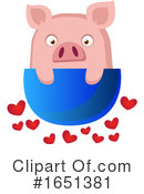 Pig Clipart #1651381 by Morphart Creations