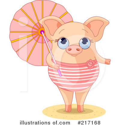 Royalty-Free (RF) Pig Clipart Illustration by Pushkin - Stock Sample #217168