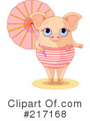Royalty-Free (RF) pig Clipart Illustration #217168