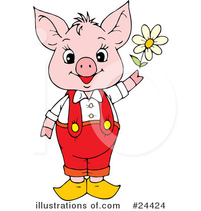 Pig Clipart #24424 by Alex Bannykh