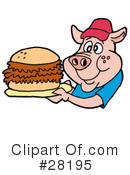 Royalty-Free (RF) Pig Clipart Illustration #28195