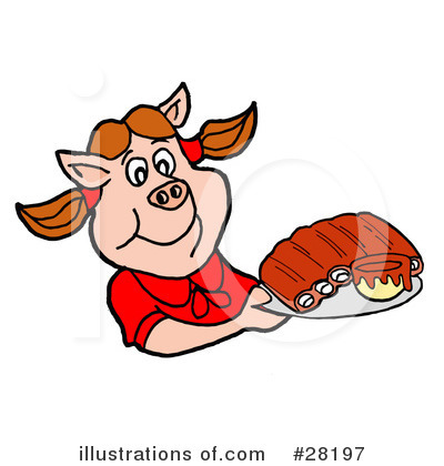 Barbecue Clipart #28197 by LaffToon
