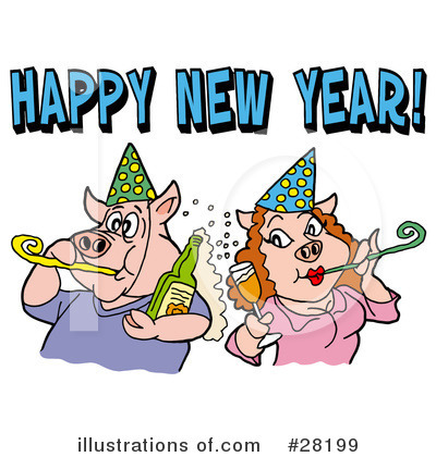 New Year Clipart #28199 by LaffToon