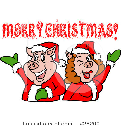 Christmas Greetings Clipart #28200 by LaffToon