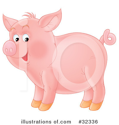 Pig Clipart #32336 by Alex Bannykh