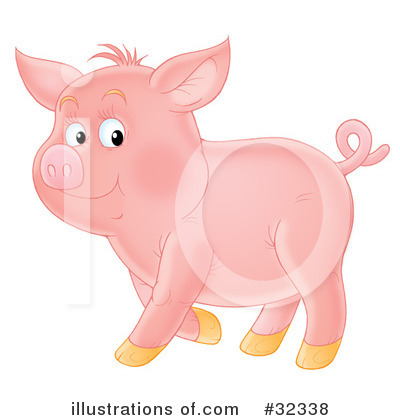 Pig Clipart #32338 by Alex Bannykh