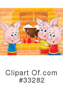 Royalty-Free (RF) Pig Clipart Illustration #33282