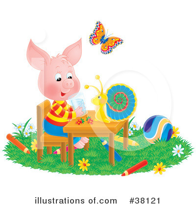 Pig Clipart #38121 by Alex Bannykh
