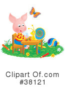 Royalty-Free (RF) pig Clipart Illustration #38121