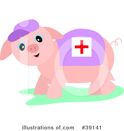 Sick Pig Clipart #39141 by bpearth