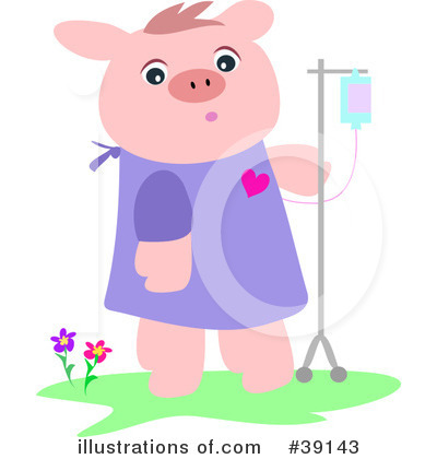 Sick Pig Clipart #39143 by bpearth