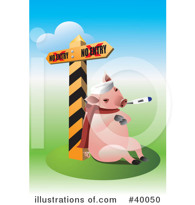 Sick Pig Clipart #40050 by Eugene