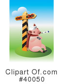 Pig Clipart #40050 by Eugene