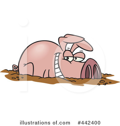Pig in Mud Clip Art http://www.illustrationsof.com/442400-royalty-free-pig-clipart-illustration