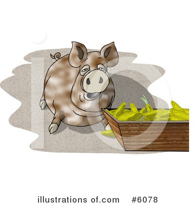 Royalty-Free (RF) Pig Clipart Illustration by djart - Stock Sample #6078
