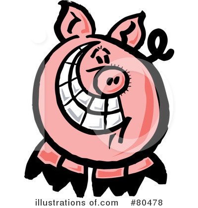 Pig Clipart #80478 by Zooco