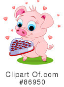 Royalty-Free (RF) pig Clipart Illustration #86950
