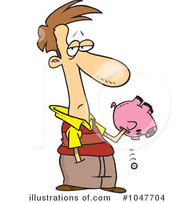 Piggy Bank Clipart #1047704 by toonaday