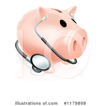 Piggy Bank Clipart #1179808 by AtStockIllustration