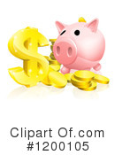 Piggy Bank Clipart #1200105