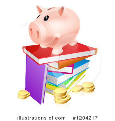 Piggy Bank Clipart #1204217 by AtStockIllustration