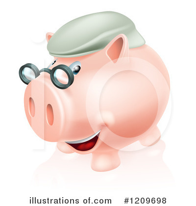 Piggy Bank Clipart #1209698 by AtStockIllustration