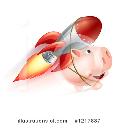 Piggy Bank Clipart #1217837 by AtStockIllustration