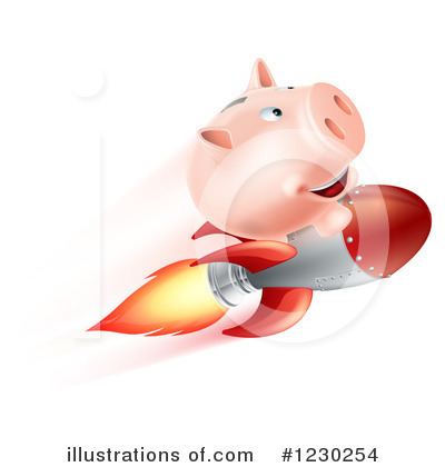 Pig Clipart #1230254 by AtStockIllustration