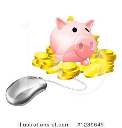 Piggy Bank Clipart #1239645 by AtStockIllustration