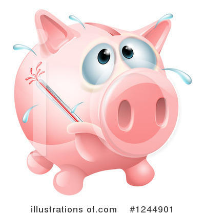 Piggy Bank Clipart #1244901 by AtStockIllustration