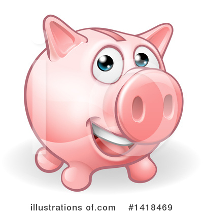 Piggy Bank Clipart #1418469 by AtStockIllustration