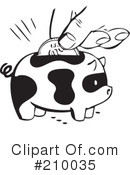 Royalty-Free (RF) Piggy Bank Clipart Illustration #210035