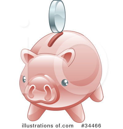 Pig Clipart #34466 by AtStockIllustration