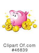 Royalty-Free (RF) piggy bank Clipart Illustration #46839
